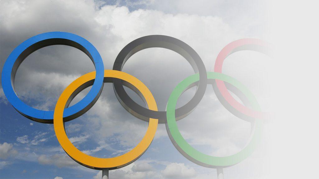 Photo of Olympic rings vanishing into mist