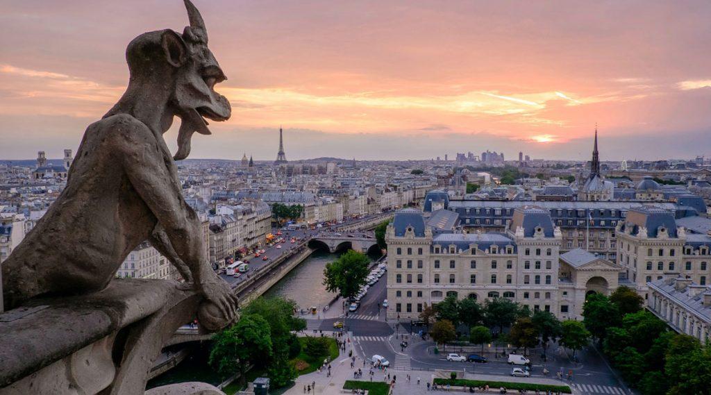 Gargoyle-eye view of Paris